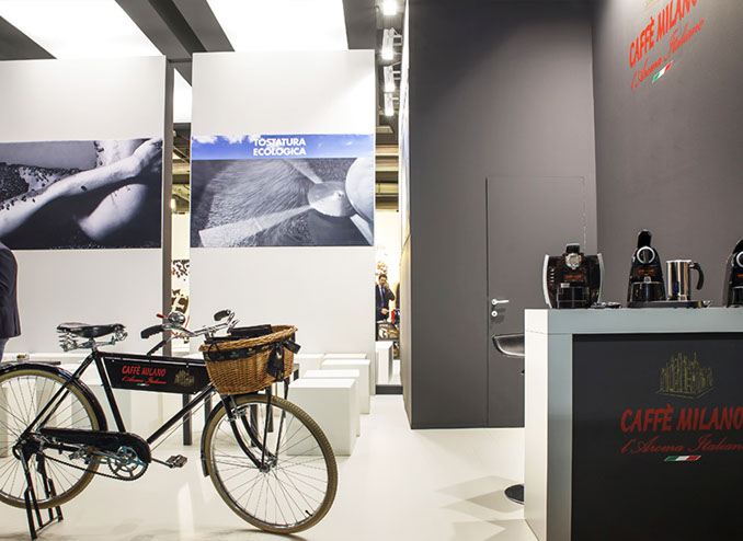 Caffè Milano exhibition stand at HOST designed by Axis Design Maior (AD Maior)
