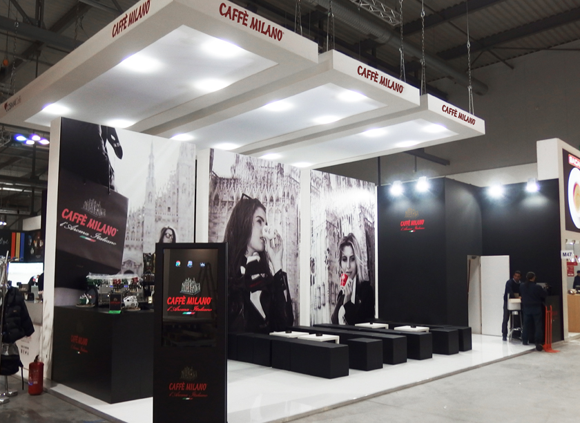 Caffè Milano exhibition stand at HOST in Milan 2015 designed by Axis Design Maior (AD Maior)