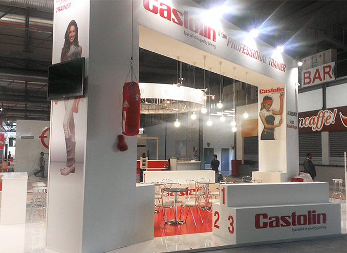 Castolin exhibition stand at MCE in Milan  designed by Axis Design Maior (AD Maior)