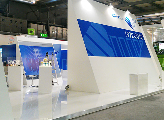Comat exhibition stand at PLAST in Milan designed by Axis Design Maior (AD Maior)