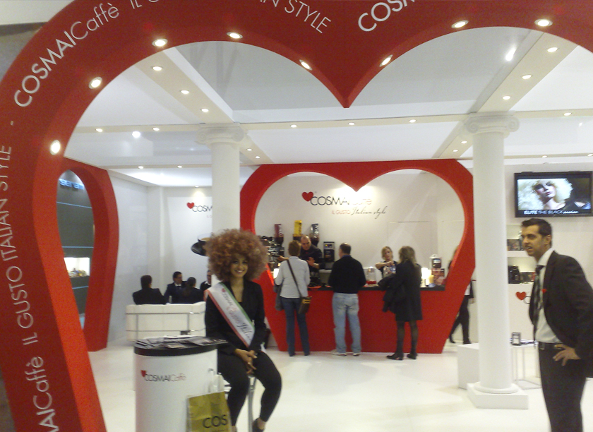 Cosmai Caffè exhibition stand at HOST  designed by Axis Design Maior (AD Maior)