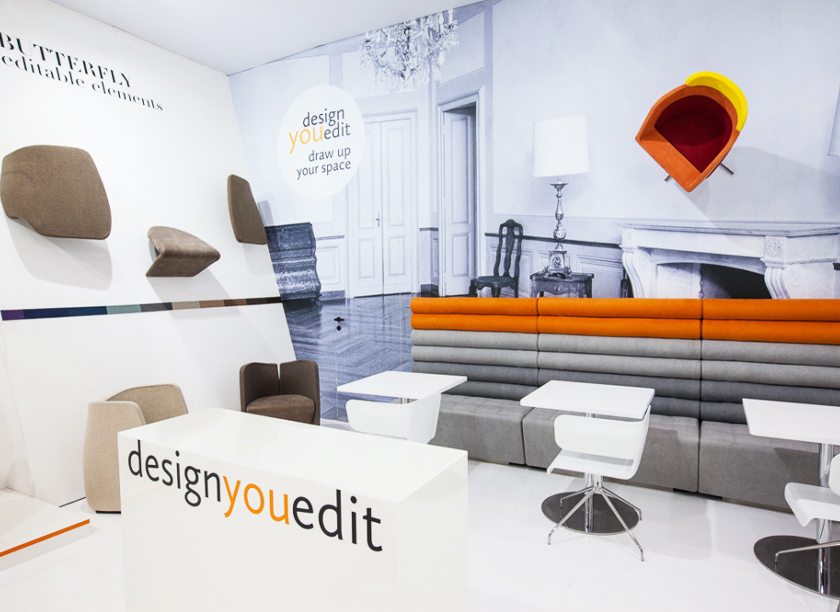 Design you edit exhibition stand at Salone del Mobile in Milan 2014 designed by Axis Design Maior (AD Maior)