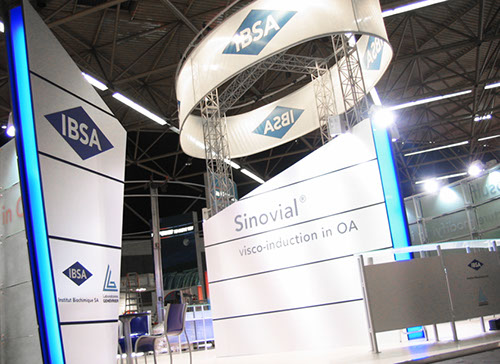 Ibsa exhibition stand in 2006 designed by Axis Design Maior (AD Maior)