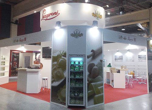 Lazzaroni exhibition stand at CIBUS designed by Axis Design Maior (AD Maior)