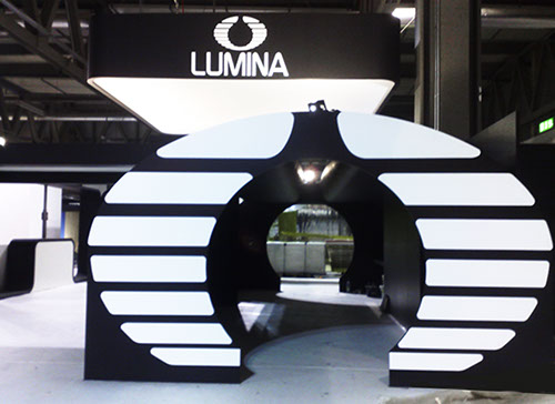 Lumina exhibition stand at Salone del Mobile designed by Axis Design Maior (AD Maior)