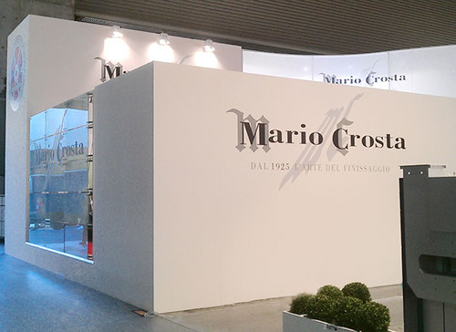 Mario Crosta exhibition stand at ITMA designed by Axis Design Maior (AD Maior)