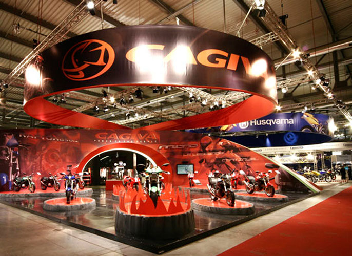 Cagiva exhibition stand at EICMA designed by Axis Design Maior (AD Maior)