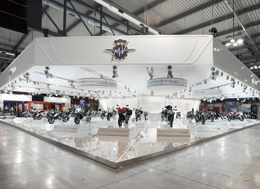 MV Agusta exhibition stand at EICMA designed by Axis Design Maior (AD Maior)