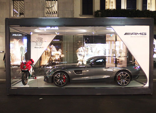 MV Agusta and AMG showcase in Montenapoleone designed by Axis Design Maior (AD Maior)