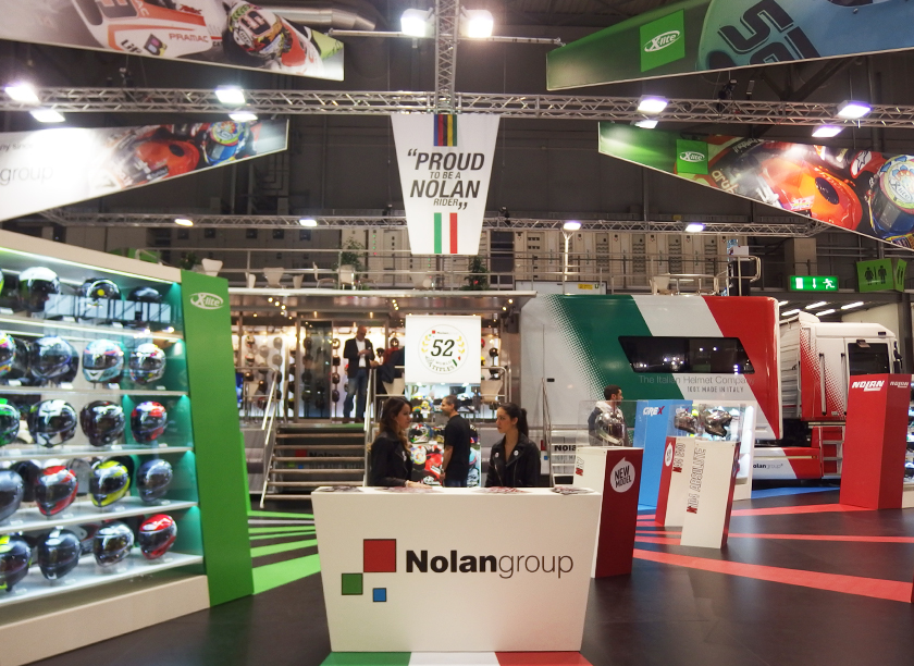 Nolan exhibition stand at EICMA designed by Axis Design Maior (AD Maior)