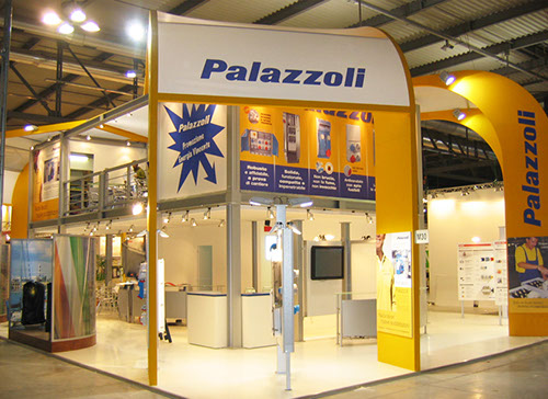 Palazzoli exhibition stand at LivinLuce designed by Axis Design Maior (AD Maior)
