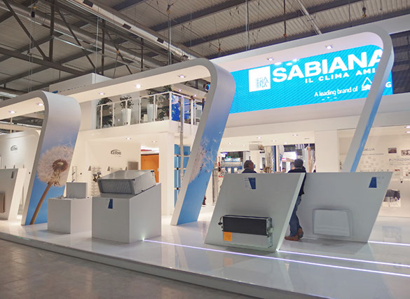 Sabiana exhibition stand designed by Axis Design Maior (AD Maior)