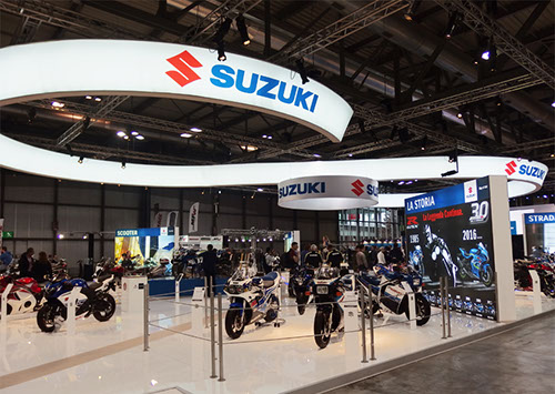 Suzuki exhibition stand at EICMA designed by Axis Design Maior (AD Maior)